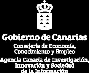 Logo Agencia Canaria de Investigación y Desarrollo. Blockchain y bitcoin
